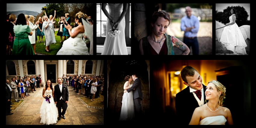 wedding photography Essex collage